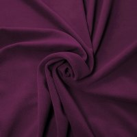 "Crescent Velour Drape Panel 12'11""x4'5""- Eggplant - CLEARANCE"