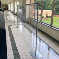BarriClear™ School Hallway Divider and Barrier Wall