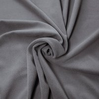 "Crescent Velour Drape Panel 12'10""x19'9"" - Pewter - CLEARANCE"