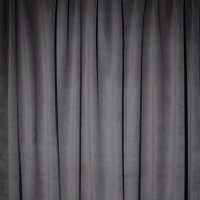 Plateau Velour Pipe and Drape Panel 14'x13' - Pewter - CLEARANCE