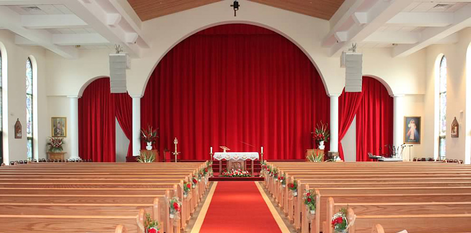 Traditional Church Curtains and Drapery