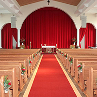 Church Stage Skirting and Altar Drapes