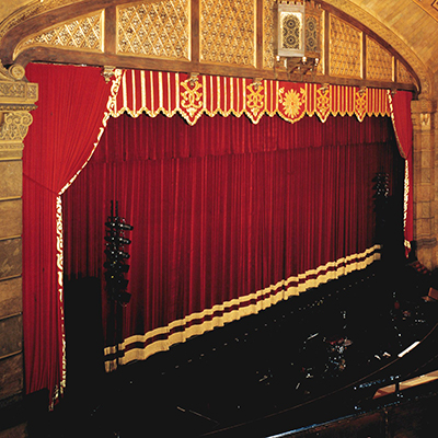 Stage Curtain with Lambrequin