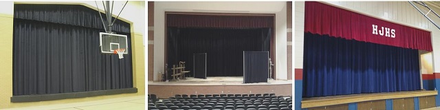 School Stage Curtains & Drapery
