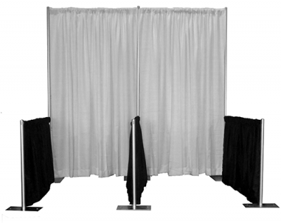 25 Inline Pipe and Drape Exhibit Booths