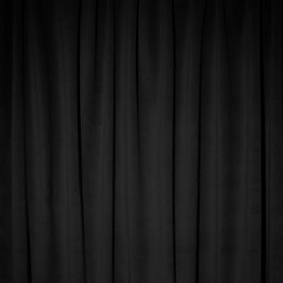Plateau Velour Pipe and Drape Panel 8'x4' - Black - CLEARANCE