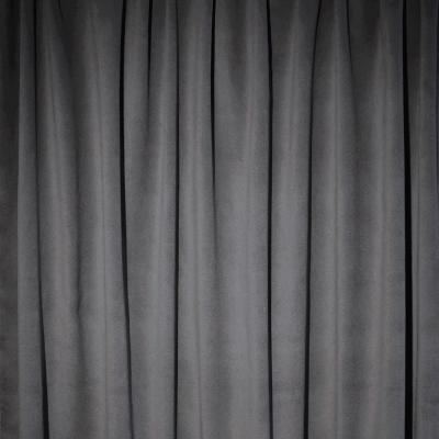 Plateau Velour Pipe and Drape Panel 18'x4' - Pewter - CLEARANCE