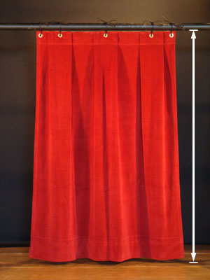 Stage Curtains Hung from Pipe Batten