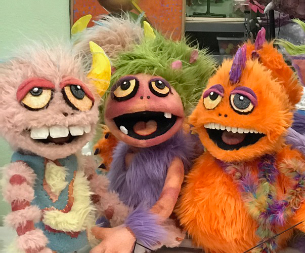 Puppets made with fleece from Georgia Stage