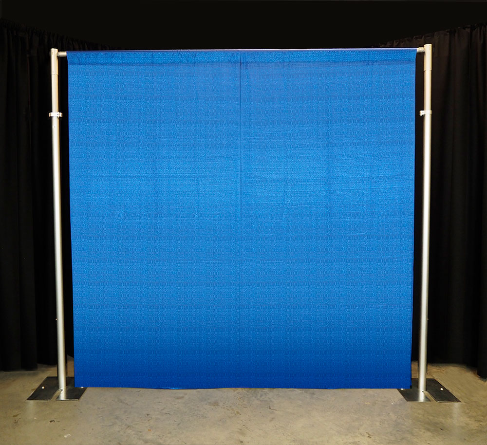 pipe and drape display with flat drapery